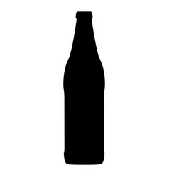 beer bottle black color icon vector image