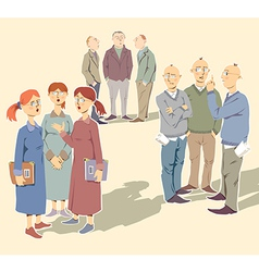 Discussing People vector image vector image