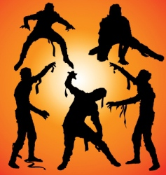 mummy silhouettes vector image vector image