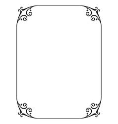 simple ornamental decorative frame vector image