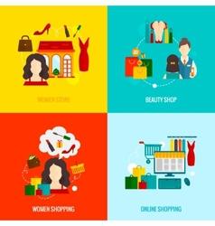 Woman Shopping Flat vector image vector image