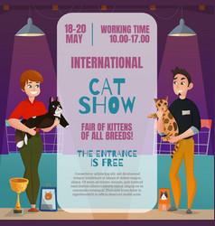 Cat show announcement poster vector
