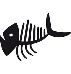 Curve Fish Skeleton vector image