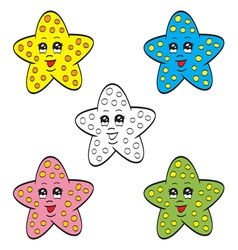 Cute starfish vector image