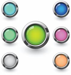 glossy blank buttons vector image vector image