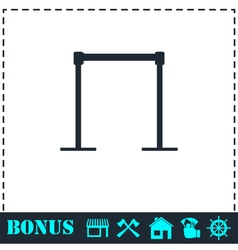 Horizontal bar icon flat vector image vector image