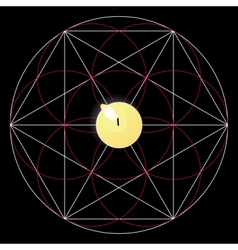 Magic ritual sacred geometry sign candle vector