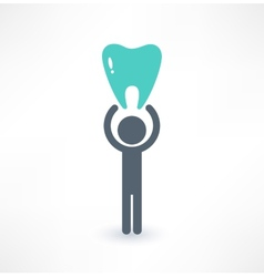 Man and tooth icon Medical concept Logo design vector image vector image