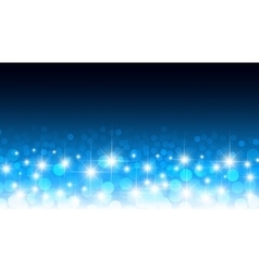 Round glowing confetti blue bokeh background vector image vector image