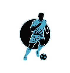 soccer player running with the ball vector image vector image