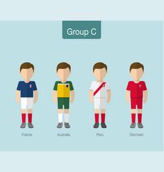 2018 soccer or football team uniform group c vector