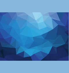 abstract blue light triangle polygon background vector image