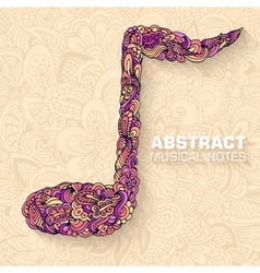 Abstract musical notes on a background conc vector image
