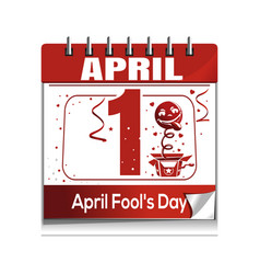 april fools day april 1 daily calendar icon vector image