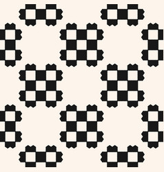 black and white geometric checkered ethnic pattern vector image