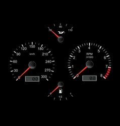 Black car dashboard vector