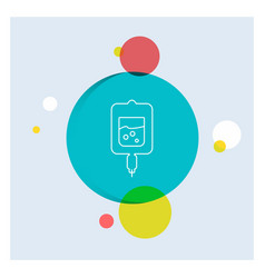 blood test sugar test samples white line icon vector image