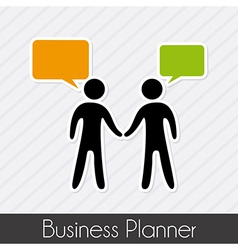 Business planner over lineal background vector