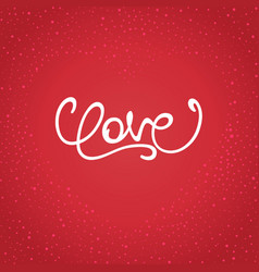 Calligraphy love vector
