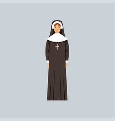 Catholic nun representative of religious vector