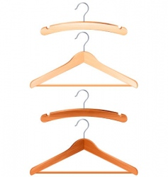 Clothing hanger vector