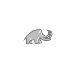 Creative gray elephant logo vector