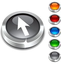 Cursor 3d button vector