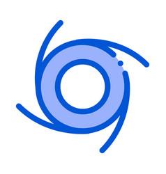 cyclone tornado icon outline vector image