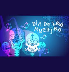 Day of dead traditional mexican halloween dia de vector