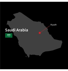 detailed map saudi arabia and capital city vector image