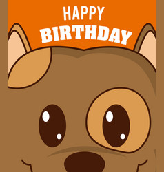 dog cute birthday card vector image