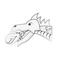 Dragon head game item vector