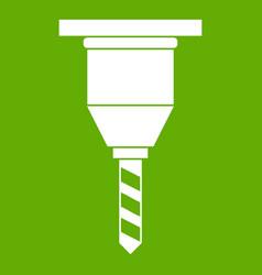 drill bit icon green vector image