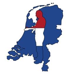 Dutch Handshake vector image