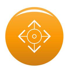 Easy target icon orange vector