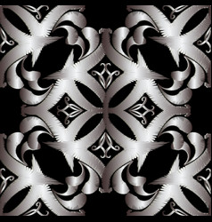 embroidery intricate damask seamless pattern vector image