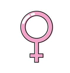 Femele gender symbol to special event vector