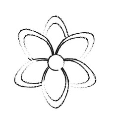 Flower icon image black line vector