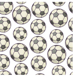 football seamless pattern inflatable ball for vector image