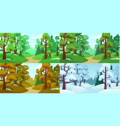 forest path spring and summer trees autumn vector image