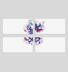 four elegant geometric abstract banners with vector image