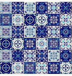 Gorgeous seamless pattern from dark blue and white vector