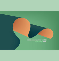 Green color paper concepts vector