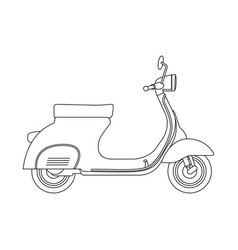 Hand draw style of a new motorcycle vector