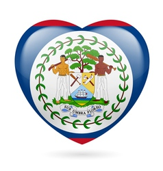 Heart icon of Belize vector image
