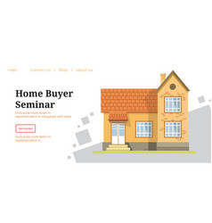 Home buyer seminar website or page for lessons vector