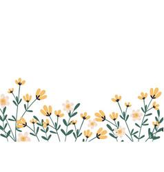 horizontal botanical backdrop with border of vector image