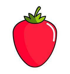 isolated strawberry icon vector image