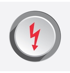 Lightning icon Power energy symbol Red sign on vector image