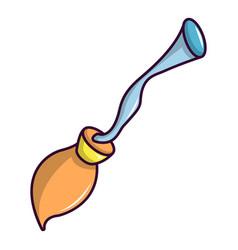 magic broom icon cartoon style vector image